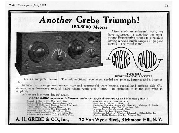 Another Grebe Triumph!  The CR-5 Radio Receiver