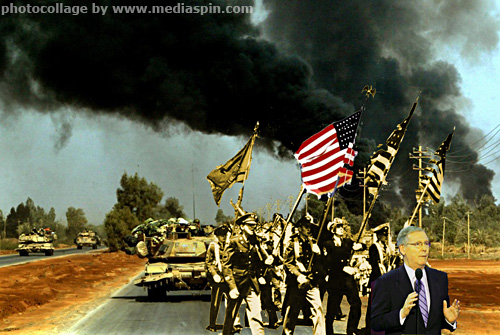 Senator McConnell Leads a Parade in Baghdad