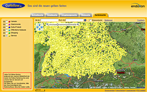 German Yellow pages map - after