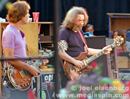 Bob Weir and Jerry Garcia of the Grateful Dead, May 1982, Berkeley, CA