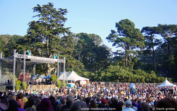 Banjo Stage, Hardly Strictly Bluegrass Festival, SF, 10/07/2006