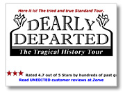 Dearly Departed Tours website