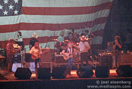Willie Nelson with American Flag