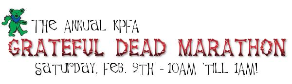 KPFA Grateful Dead Marathon Banner