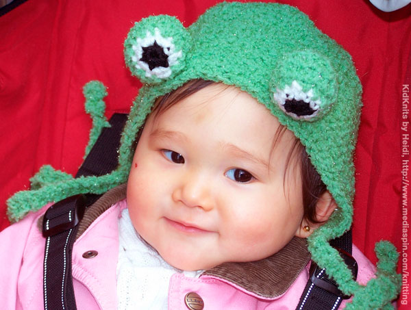 Knitted Froggie Hat