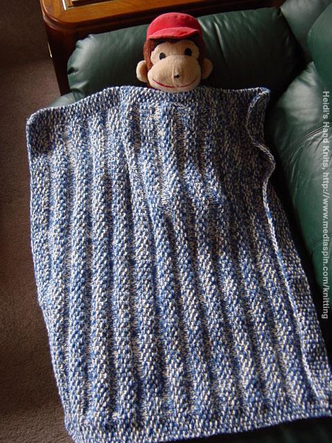 Monkey Baby Blanket Knitting Pattern : Heidis Hand Knits: Kid Knits [7]
