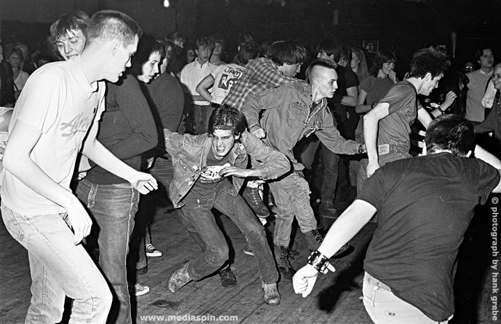 Punks of the 80's Mosh Dancing