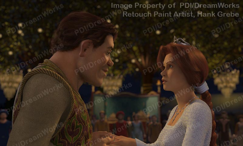 Photoshop Retouched Shrek 2 Publicity Still Handsome Shrek And Fiona