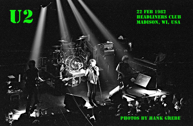 U2 Concert Photos  22 Feb 1982 U2 1982
